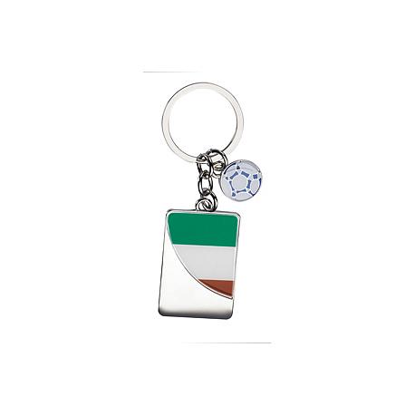 Portachiavi in metallo con colori italiani Personalizzato