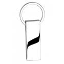 Portachiavi in metallo rettangolare Personalizzato