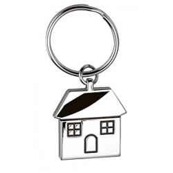 Portachiavi in metallo a forma di casa Personalizzato