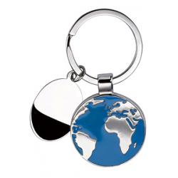Portachiavi in metallo satinato Terra Personalizzato
