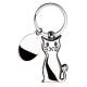 Portachiavi in metallo a forma di gatto Personalizzato