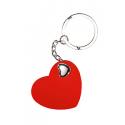 Portachiavi in plastica a forma di cuore Personalizzato