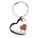 Portachiavi in metallo a forma di cuore Personalizzato